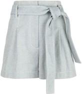 3.1 Phillip Lim belted high-waist denim shorts