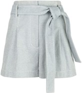3.1 Phillip Lim Belted High-Waist Denim Shorts