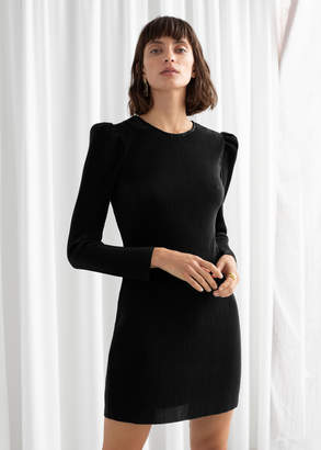 And other stories Plisse Pleated Mini Dress