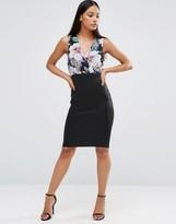 AX Paris Floral Printed Body-Conscious Dress