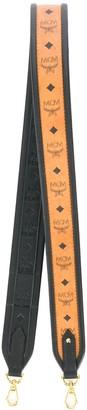 MCM Logo Print Bag Shoulder Strap