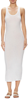 James Perse Cotton Scoopneck Sheath Dress