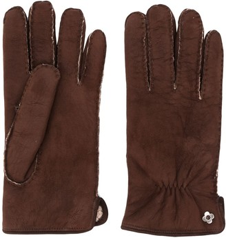 Lardini Suede Shearling Gloves