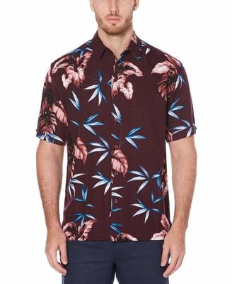 Cubavera Big & Tall Tropical Print Shirt