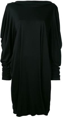 Jil Sander Pre Owned Cowl Back Dress
