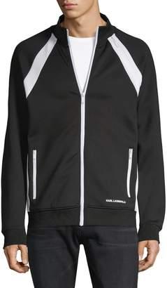Karl Lagerfeld Paris Raglan-Sleeve Full-Zip Track Jacket