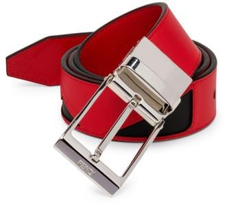 Fendi Vit. Century Adjustable Leather Belt