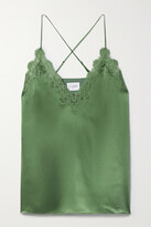 Thumbnail for your product : CAMI NYC The Everly Lace-trimmed Silk-charmeuse Camisole