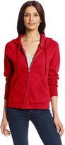 Hanes Women's Full Zip Eco Smart Fleece Hoodie, Red