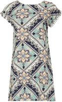 Izabel London Tile Print Shift Dress
