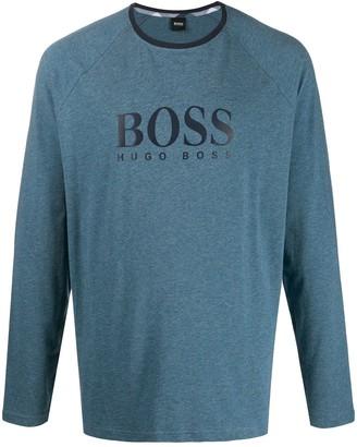 BOSS contrast-panel pajama set