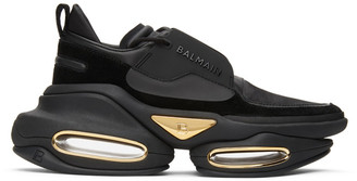 Balmain Black Suede B-Bold Sneakers