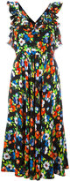 MSGM crossed back floral dress - women - Silk/Cotton/Polyester - 40