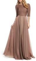 La Femme Women's Embellished Bodice Gown