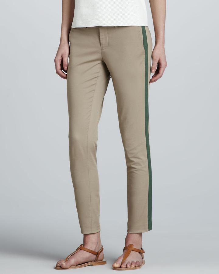 Vince Side-Stripe Twill Pants