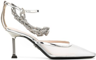 Cesare Paciotti Crystal Embellished Pumps