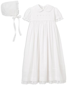 Elegant Baby Girls' Christening Gown & Bonnet Set - Baby