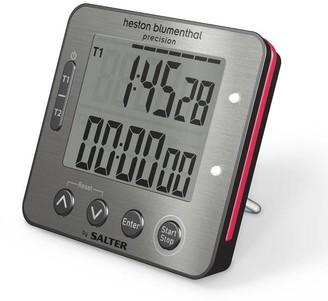 Salter Heston Blumenthal Electronic Dual Black Timer - Grey