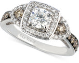 LeVian Le Vian® Bridal Diamond Square Halo Engagement Ring (1-3/8 ct. t.w.) in 14k White Gold
