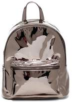 Urban Expressions Pluto Mirrored Metallic Vegan Faux Leather Mid Backpack