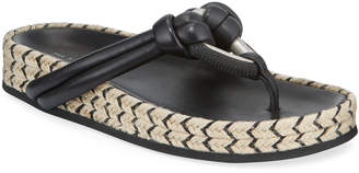 Rag & Bone Eva Leather Jute-Flatform Thong Sandals