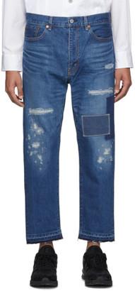 Junya Watanabe Indigo Garment-Treated Patch Jeans