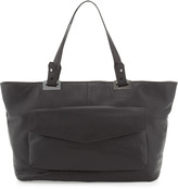 Rachel Zoe Abbey East-West Leather Tote Bag, Black
