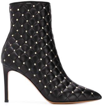 Valentino Garavani Spike Leather Boots