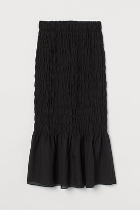 H&M Smocked Skirt - Black