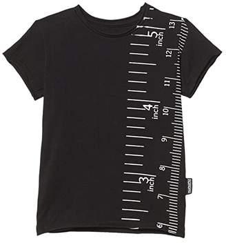 Nununu Measuring Band T-Shirt (Little Kids/Big Kids) (Black) Boy's Clothing