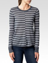 Paige Allie Sweater - Heather Grey Stripe