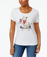 Karen Scott Proud Pup Graphic Top, Created for Macy's