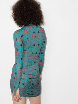MAISIE WILEN Blue Orbit City Cotton Mini Dress