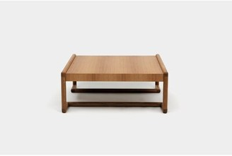 """Artless Untitled Solid Wood Sled Coffee Table Color: Walnut, Size: 16"""" H x 40"""" L x 40"""" W"""