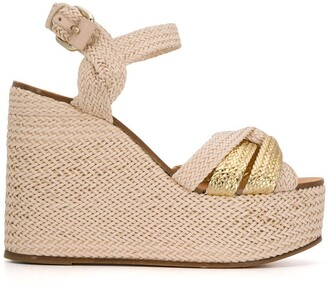 Casadei Riviera wicker wedge sandals