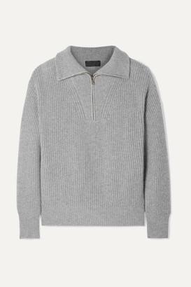 Nili Lotan Hester Ribbed Cashmere Sweater - Gray