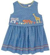 John Lewis Cuba Animal Chambray Dress, Blue