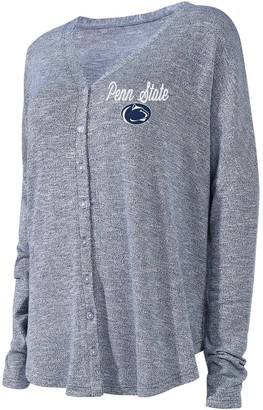 Unbranded Women's Concepts Sport Navy Penn State Nittany Lions Knit Button-Up Sweater