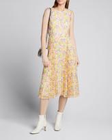 Jason Wu Collection Print Chiffon Sleeveless Dress