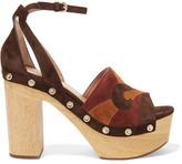 Sigerson Morrison Quentin stud-embellished suede sandals