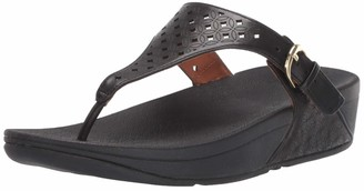 FitFlop Women's Skinny Toe Post-Latticed Sandal