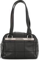 Chanel Pre Owned Choco Bar logo shoulder bag