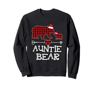 Buffalo David Bitton Auntie Bear Christmas Pajama Red Plaid Family Sweatshirt