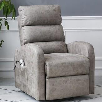 "Latitude Run One Electric Lift Chair 20.5"" Power Recliner Fabric: Gray"