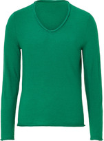 Closed Green Spruce Cashmere Pullover