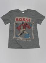 Junk Food Clothing Kids Boys Transformers The Boss Tee-steel-l