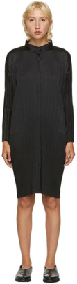 Pleats Please Issey Miyake Black Mid-Length Shirt Dress
