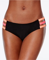 Bikini Nation Block and Roll Colorblocked Strappy Hipster Bottoms