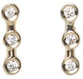 Rebecca Taylor Ariel Gordon Mini Horizon Diamond Studs
