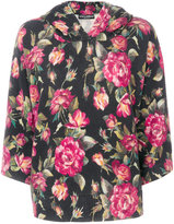 Dolce & Gabbana rose printed hoodie - women - Cashmere - 38